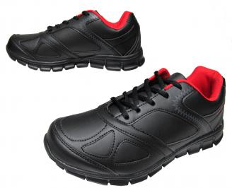 Мъжки маратонки Bulldozer еко кожа черни