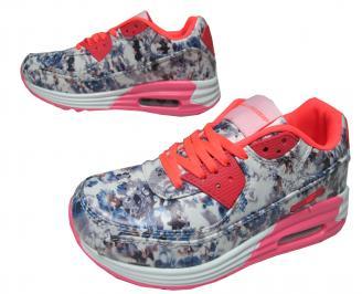 Дамски спортни обувки Bulldozer еко кожа шарени