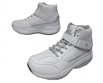 Дамски спортни обувки Bulldozer еко кожа бели