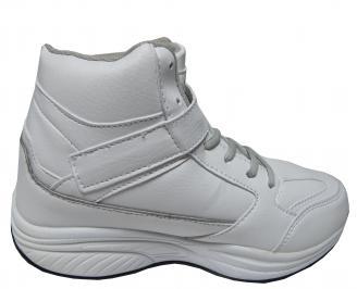 Дамски спортни обувки Bulldozer еко кожа бели 3