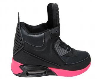 Дамски спортни обувки Bulldozer еко кожа черни 3