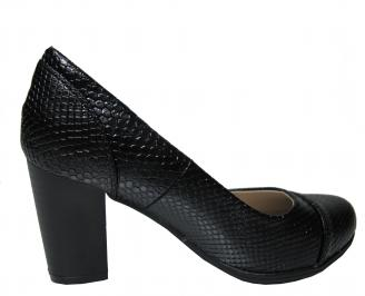 Дамски ежедневни обувки еко кожа черни 3