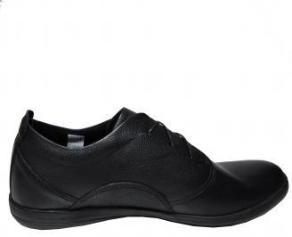 Мъжки спортно елегантни обувки -Гигант естествена кожа черни 3