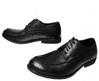 Мъжки  елегантни обувки -Гигант естествена кожа черни