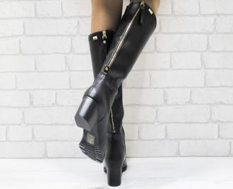 Дамски ботуши еко кожа черни 3
