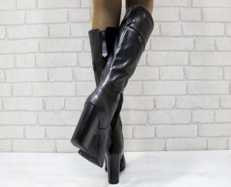 Дамски елегантни ботуши  черни 3
