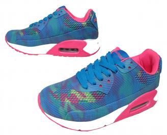 Дамски спортни обувки Bulldozer текстил сини