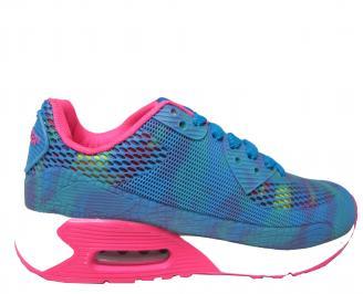 Дамски спортни обувки Bulldozer текстил сини 3