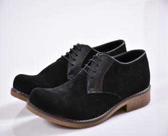 Мъжки обувки черни набук