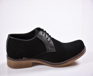 Мъжки обувки черни набук 3