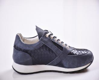 Мъжки спортни обувки еко кожа сини 3