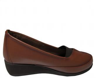 Дамски ежедневни обувки естествена кожа кафяви 3