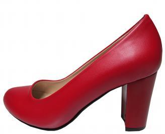 Дамски елегантни обувки еко кожа червени