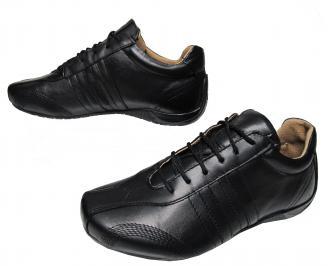 Юношески обувки естествена кожа черни