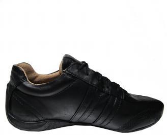 Юношески обувки естествена кожа черни 3
