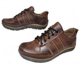 Мъжки обувки от естествена кожа кафяви