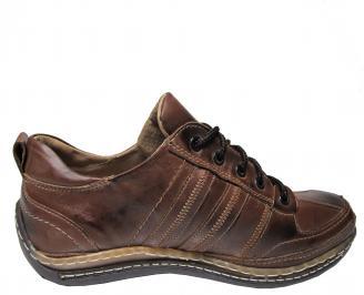Мъжки обувки от естествена кожа кафяви 3