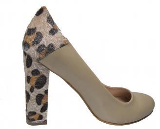 Дамски елегантни обувки еко кожа бежови 3