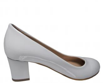 Дамски ежедневни обувки еко кожа /лак бели 3