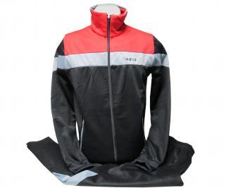 Мъжки спортен екип памук червено/черно