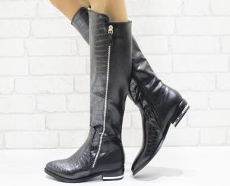 Дамски ежедневни ботуши еко кожа черни