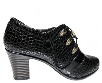 Дамски обувки  черни от еко кожа 3