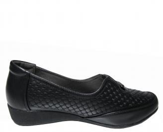 Дамски обувки черни от еко кожа