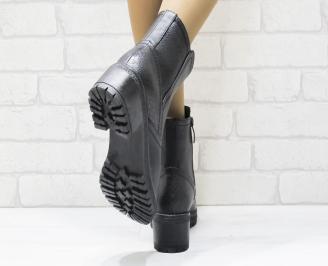 Дамски ежедневни боти в  черен цвят от еко кожа 3