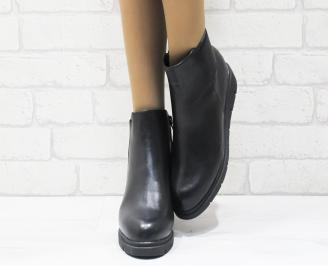 Дамски ежедневни боти в  черен цвят от еко кожа