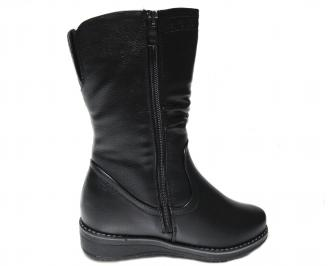 Дамски ежедневни ботуши черни от еко кожа 3