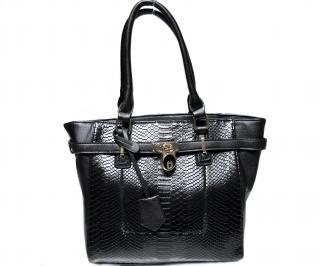 Дамска чанта черна еко кожа