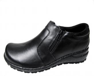 Дамски обувки  -Гигант естествена кожа черни
