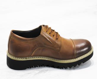 Мъжки ежедневни обувки естествена кожа кафяви 3