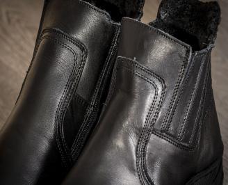Мъжки боти черни естествена кожа