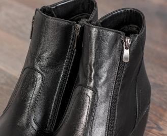 Дамски боти Гигант естествена кожа черни