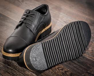 Мъжки ежедневни обувки естествена кожа черни 3