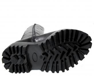 Дамски ботуши черни естествена кожа