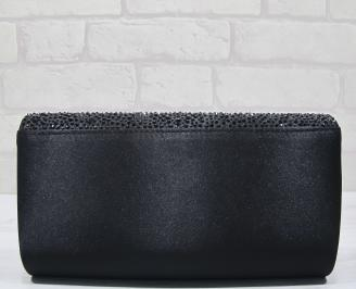 Абитуриентска чанта текстил/сатен/ черна