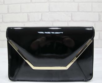 Абитуриентска чанта еко кожа/лак черна