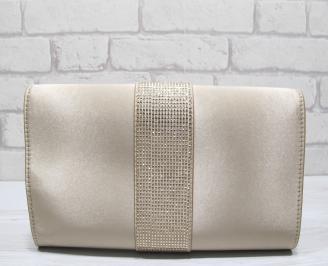 Абитуриентска чанта текстил/сатен/ бежова