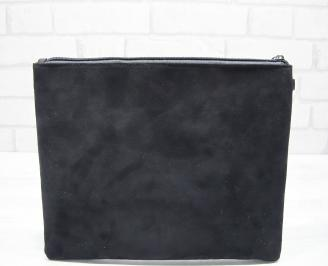 Абитуриентска чанта велур черна