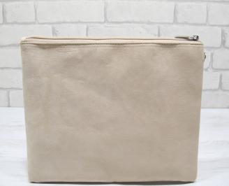 Абитуриентска чанта велур бежова