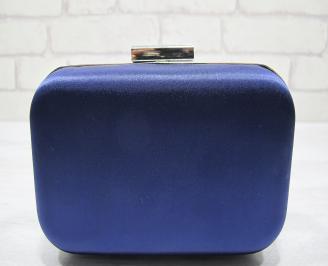 Абитуриентска чанта сатен тъмно синя