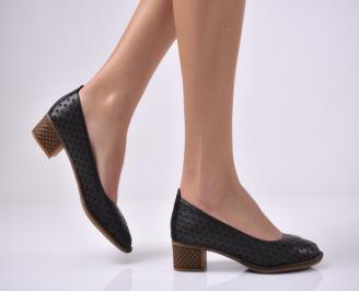 Дамски ежедневни обувки естествена кожа черни