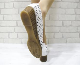 Дамски обувки естествена кожа бели 3
