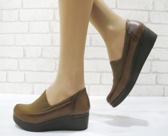 Дамски ежедневни обувки еко кожа кафяви