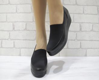 Дамски ежедневни обувки еко кожа черни