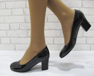 Дамски ежедневни обувки еко кожа/лак черни