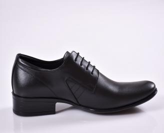 Мъжки официални обувки черни естествена кожа