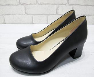 Дамски обувки-Гигант естествена кожа черни